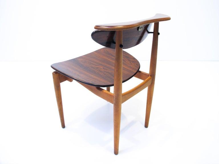 Scandinavian Modern Finn Juhl  Bo62, the Reading Chair by Bovirke. 1953 For Sale