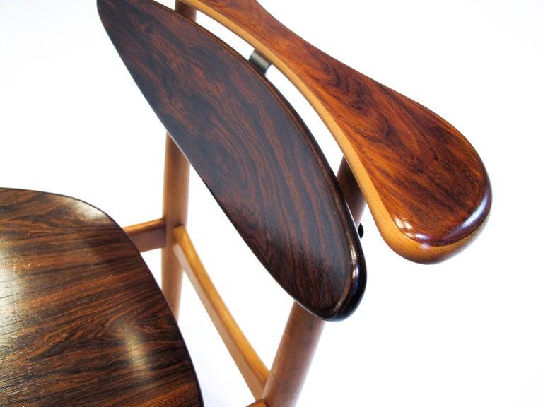 Finn Juhl  Bo62, the Reading Chair by Bovirke. 1953 In Good Condition For Sale In Helsingborg, Skåne