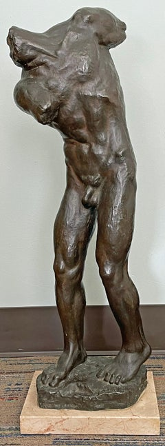 """""""The Reaper,"""" Large, Spectacular Male Nude Bronze Sculpture by Radauš, 1934"""