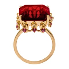 The Red Crown Vermeil Gold Ring