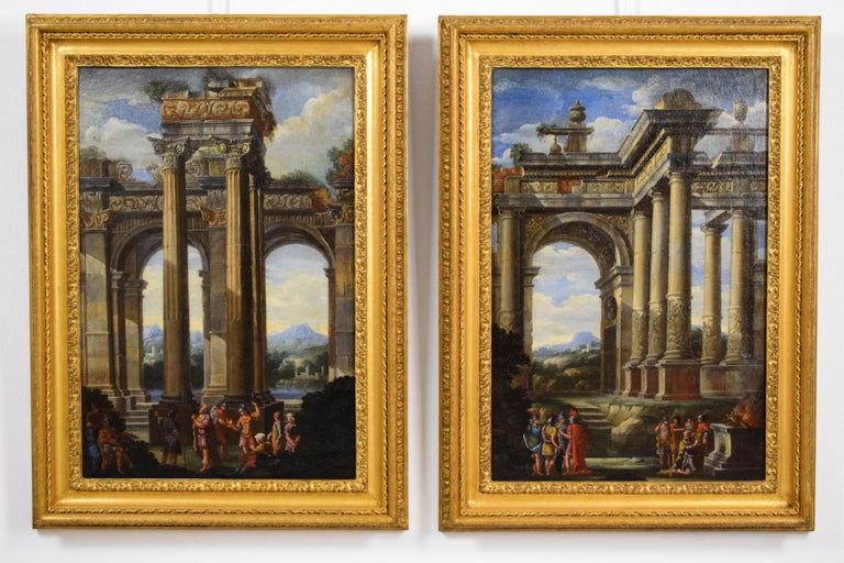 Italian Repentance and Sacrifice of King David, Alberto Carlieri 'Rome 1672-1720' For Sale