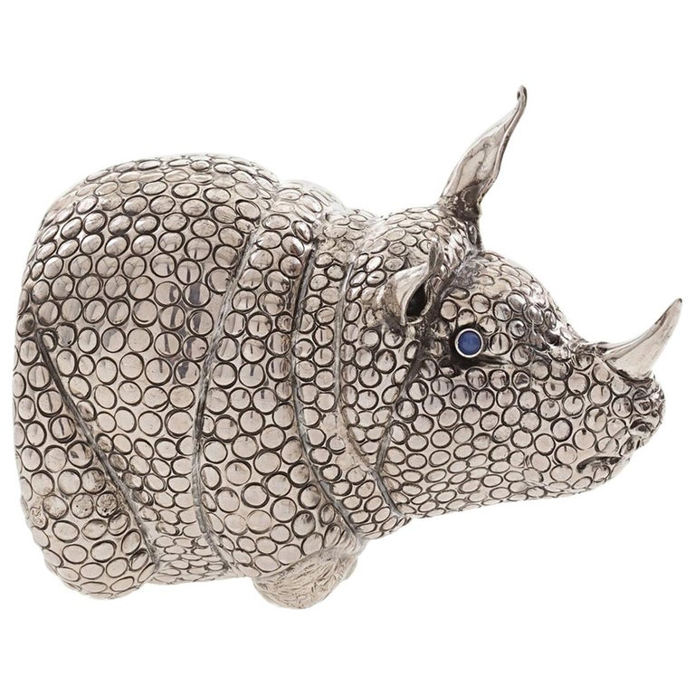 The Rhino Sterling Silver Lighter For Sale