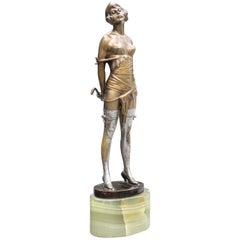 """""""The Riding Crop"""" Bronze Sculpture by Bruno Zach"""