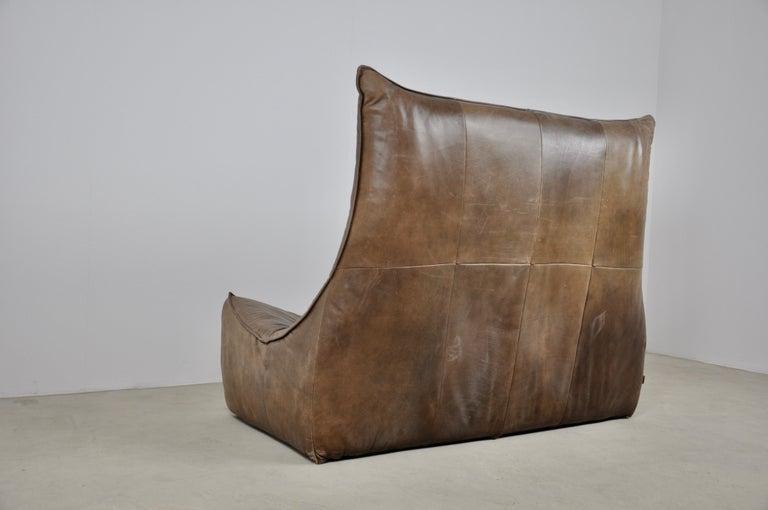Rock Leather Sofa by Gerard Van Den Berg for Montis, 1970s For Sale 4