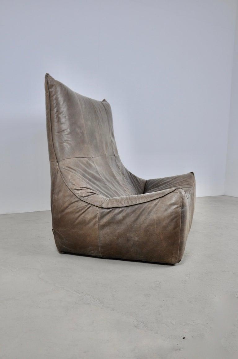 Dutch Rock Leather Sofa by Gerard Van Den Berg for Montis, 1970s For Sale