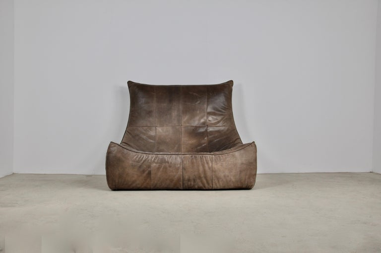 Late 20th Century Rock Leather Sofa by Gerard Van Den Berg for Montis, 1970s For Sale