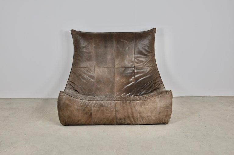 Rock Leather Sofa by Gerard Van Den Berg for Montis, 1970s For Sale 1