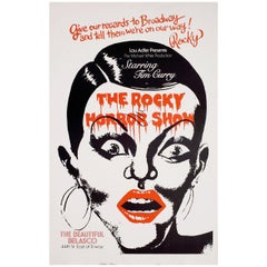 The Rocky Horror Picture Show 1975 U.S. Window Card Theatre Poster