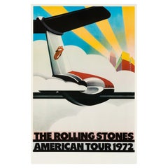 The Rolling Stones Original Vintage American Tour Poster by John Pasche, 1972