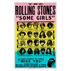 """The Rolling Stones """"Some Girls"""" Original Vintage Promo Poster, American, 1978"""