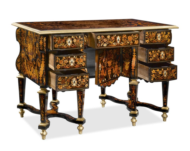 Louis XIV Rothschild Desk Attributed to Pierre Golle For Sale