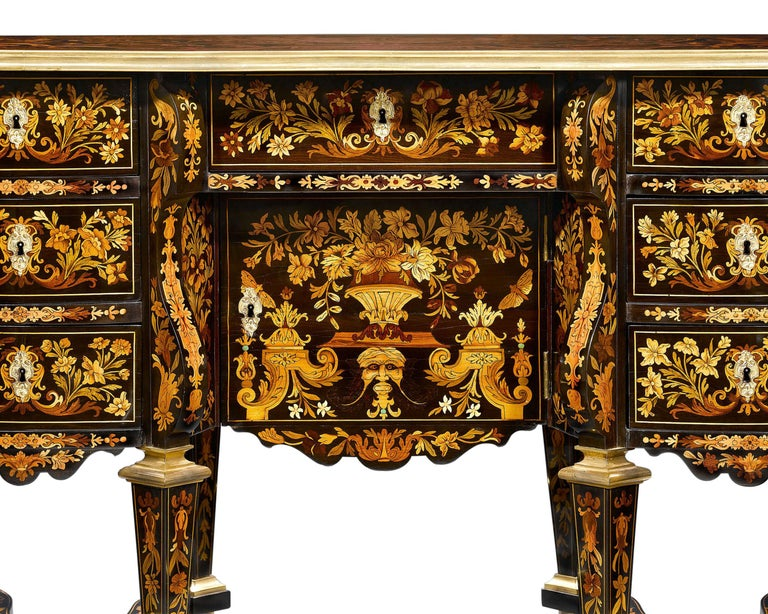 French Rothschild Desk Attributed to Pierre Golle For Sale