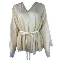 The Row Beige Cotton Blouse Top, Size XS