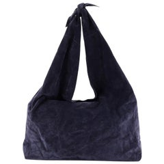 The Row Bindle Knot Hobo Suede