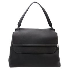 The Row Black Leather Tote