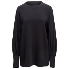 The Row Black Long Sleeve Top