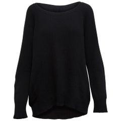 The Row Black Scoop Neck Sweater