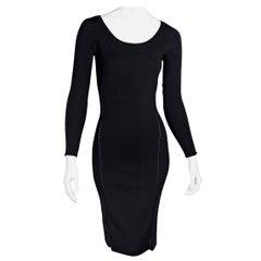 The Row Black Stretch Knit Melindah Dress