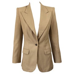 The Row Camel Size 4 Wool Single Breasted 90s Style Blazer Jacket