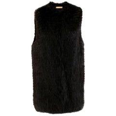 The Row Dark Brown Beaver Fur Gilet US2