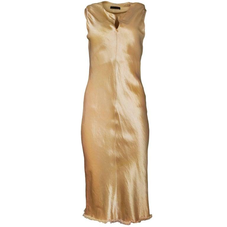 The Row Gold Sleeveless Dress Sz S