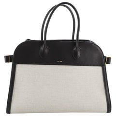The Row Margaux Tote Canvas with Leather 15
