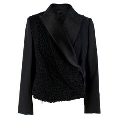 The Row Silk & Astrakhan Fur Wrap Style Jacket US 2