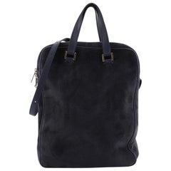 The Row Twin Laptop Bag Suede And Leather