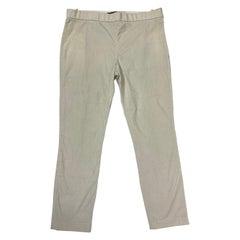 The Row White Cotton Capri Pants, Size 6