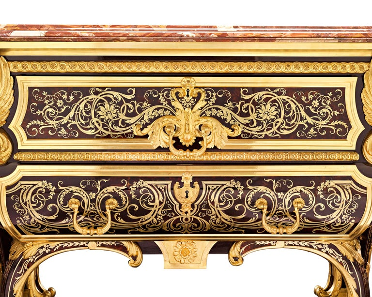 English Royal Boulle Marquetry Commode by Blake For Sale