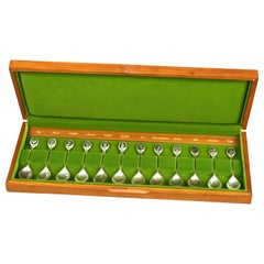 The Royal Horticultural Society Collection of English Flowers Sterling Spoons