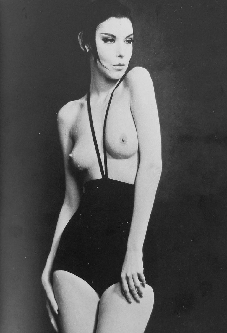 Designer,  Rudi Gernreich was one of the most revolutionary designers of the 20th century.   The rare Gernreich's 1964 topless bathing suit was one of the most sensational, shocking, and innovative of its time.    Gernreich throughout his career