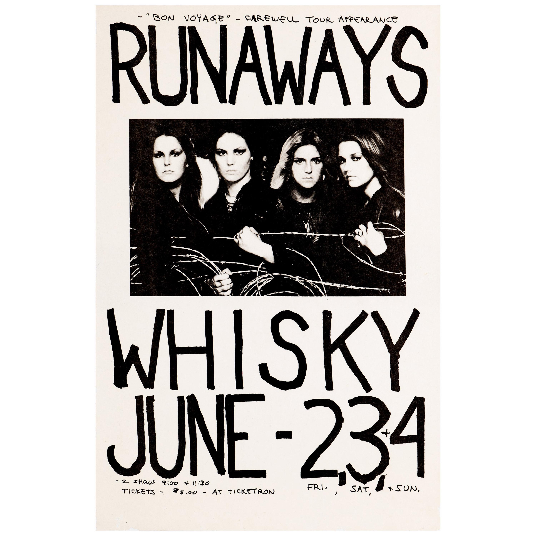 The Runaways Original Vintage Concert Poster, Whisky-A-Go-Go, Los Angeles, 1978