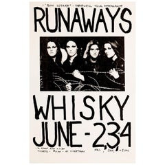 The Runaways Original Vintage Concert Poster, Whisky-A-Go-Go, Los Angeles, 1978