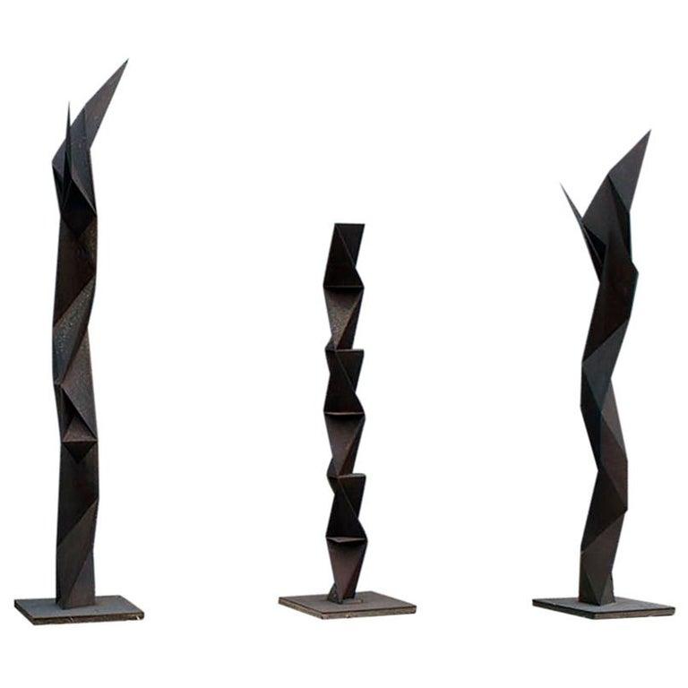 """The Rust' Three Sculptures by Japanese Artist Aijiro Wakita For Sale"