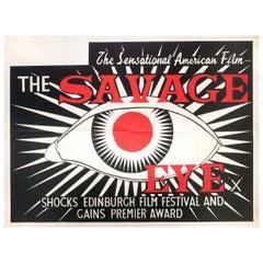 The Savage Eye 1960 British Quad Film Poster