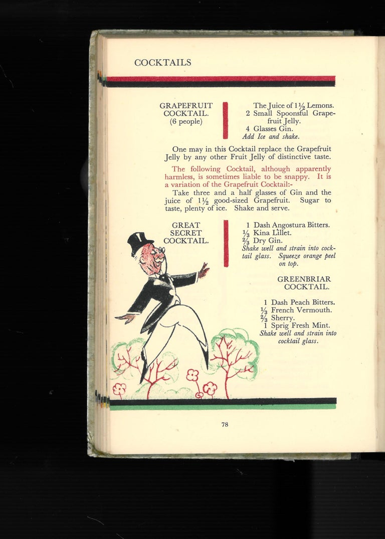 'The Savoy Cocktail Book', '1930' Book In Good Condition For Sale In North Yorkshire, GB