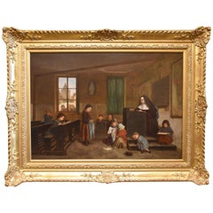 """""""the Schoolroom"""" Oil Painting by Theo Duverger"""