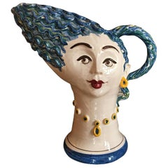 Sea Woman Handamade Ceramic Vase Made in Italy