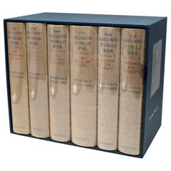 The Second World War, Signed by Winston Churchill, First Editions, 6 Volumes