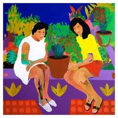 'The Secret Garden' Portrait Painting by Alan Fears Pop Art