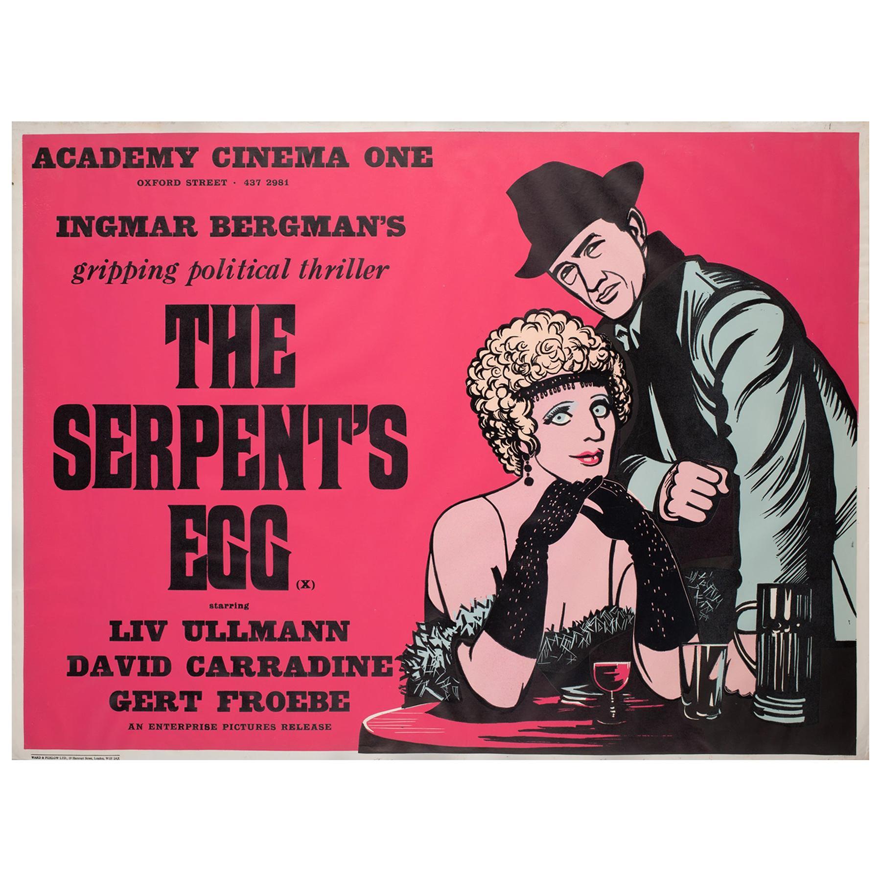"""The Serpent's Egg"", 1978 Academy Cinema UK Quad Film Poster, Strausfeld"