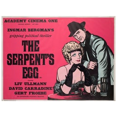 """The Serpent's Egg"", 1978 Academy Cinema UK Quad Film Poster, Strausfeld"