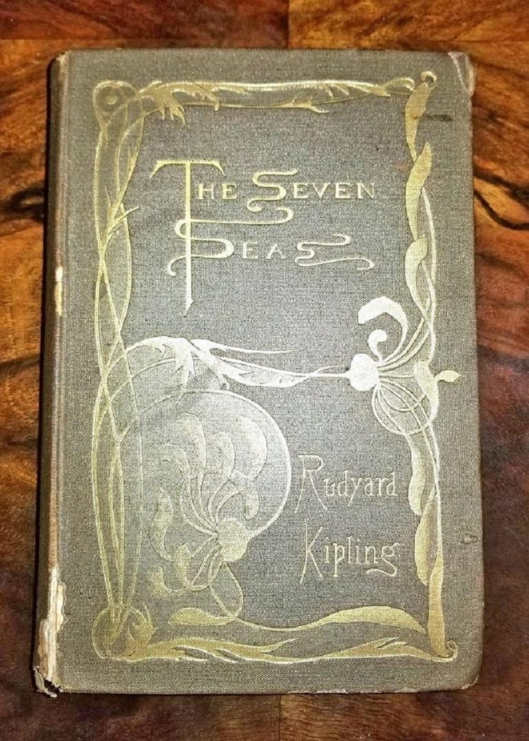 19th Century The Seven Seas by Rudyard Kipling First Edition For Sale