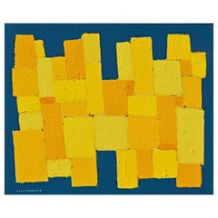 'The Shining City' Original Abstract Painting by Lars Hegelund