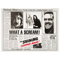 'The Shining' Original Vintage British Quad Movie Poster, 1980
