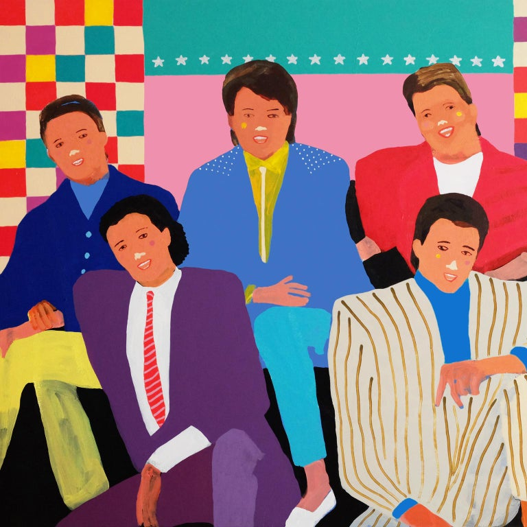 Modern 'The Simple Things' Portrait Painting by Alan Fears Pop Art Figurative For Sale