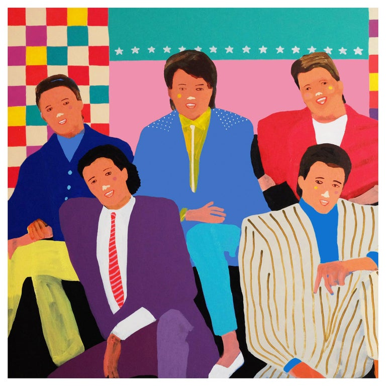 'The Simple Things' Portrait Painting by Alan Fears Pop Art Figurative For Sale