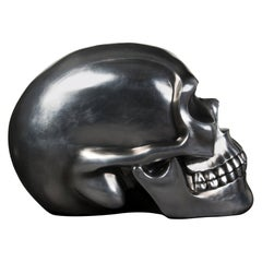 The Skull, Ceramic, Silver Soften Black, Italy