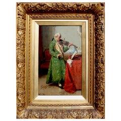 """""""The Solo Violinist"""" a Fine Oil on Canvas by Luigi Da Rios"""